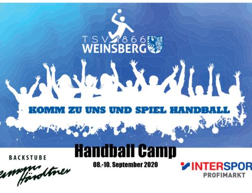 Das Handball Camp 2020 ist ausgebucht!