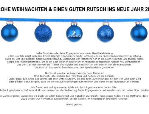 TSV Weihnachten & Silvester 2020/2021