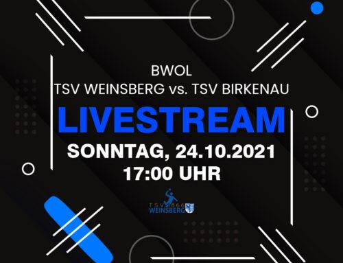 Spiel gegen TSV Birkenau im Livestream verfolgen